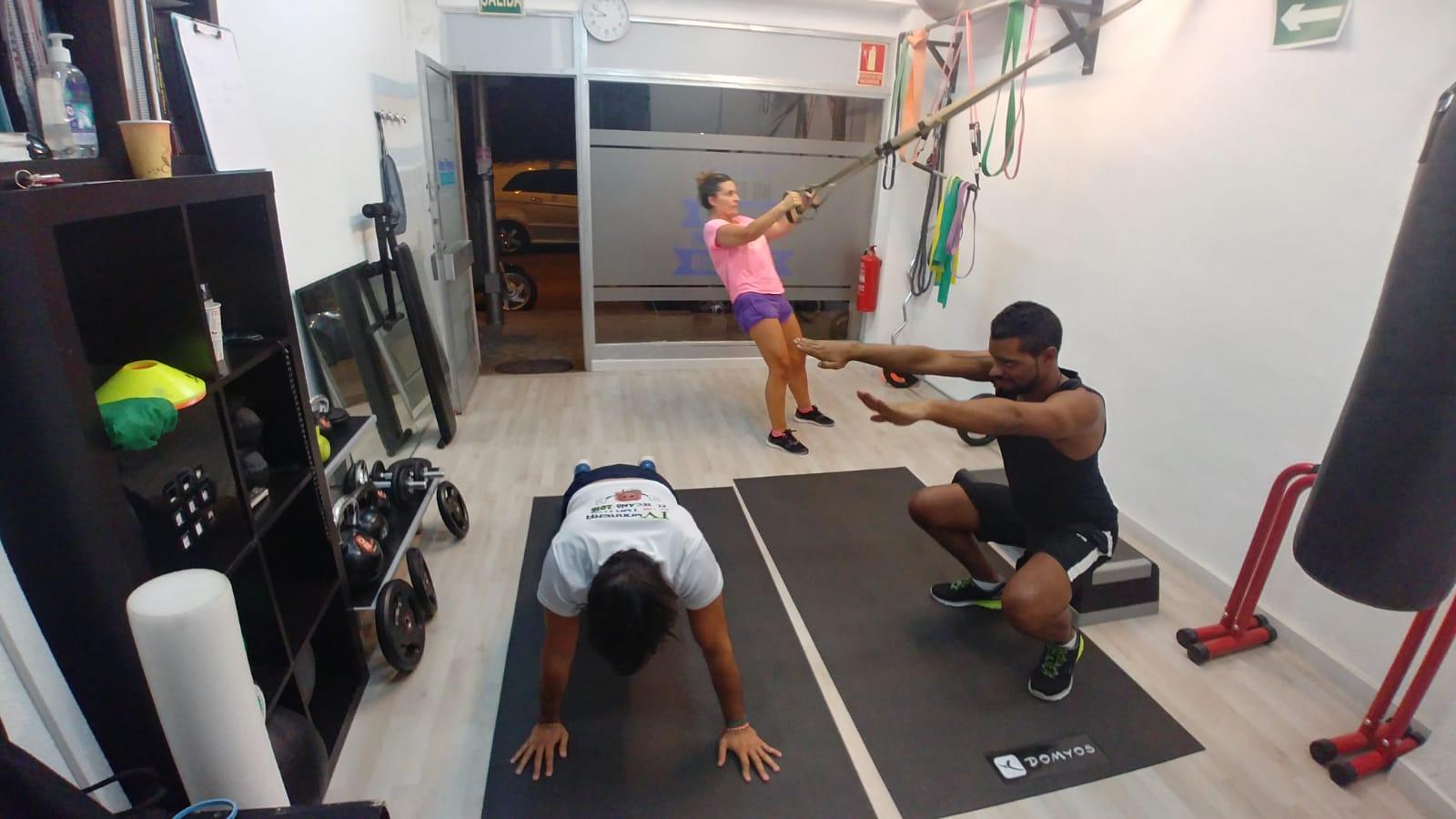 entrenamiento en grupo